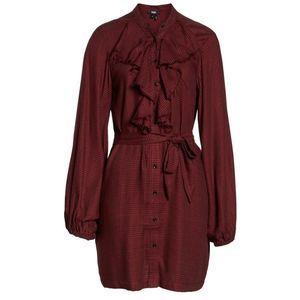 Paige Isabelle Plaid Tie Waist Shirt Dress Size M